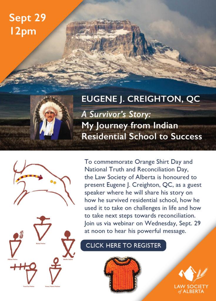 Eugene J Creighton QC webinar invitation